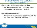 environmental and cultural resources impacts2
