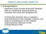 public facilities impacts