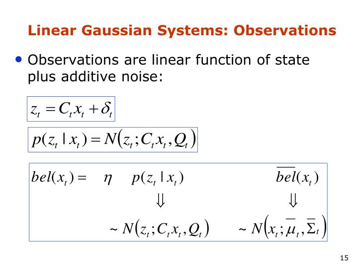 Linear Gaussian Systems: Observations