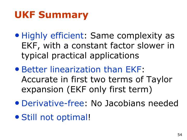 UKF Summary