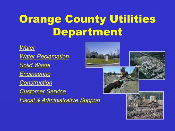 Orange county utilities department
