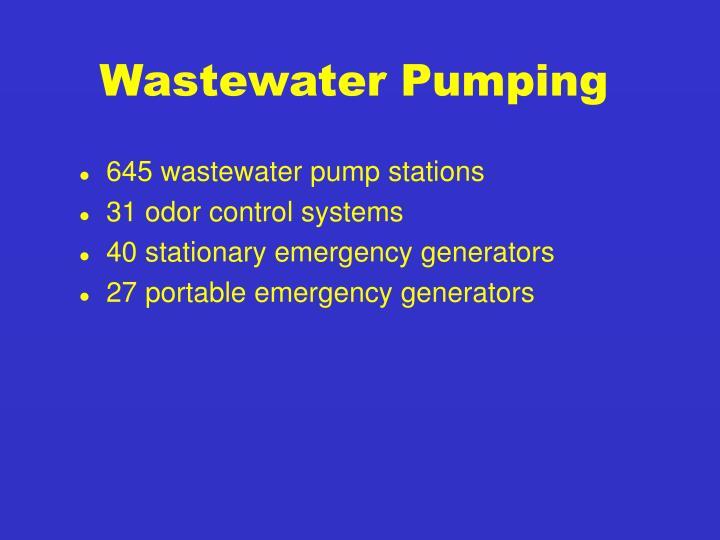 Wastewater Pumping