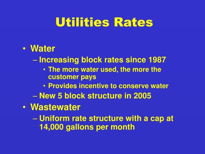 Utilities Rates
