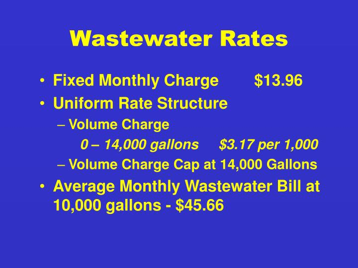 Wastewater Rates