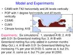 model and experiments
