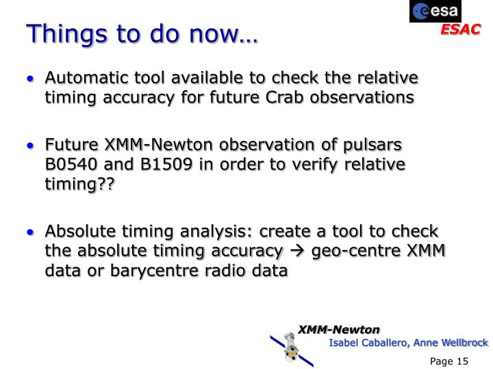 Automatic tool available to check the relative timing accuracy for future Crab observations