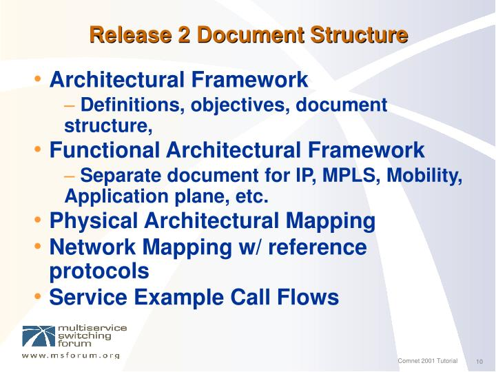 Release 2 Document Structure