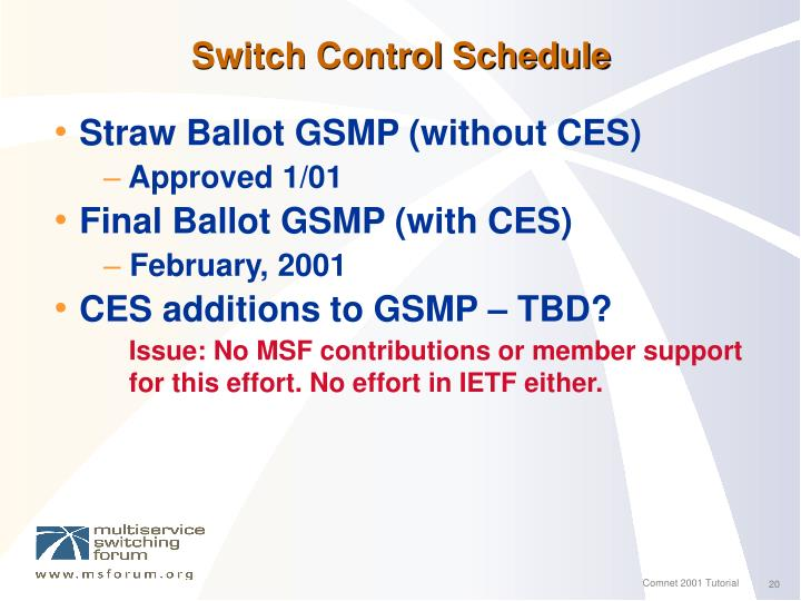 Switch Control Schedule