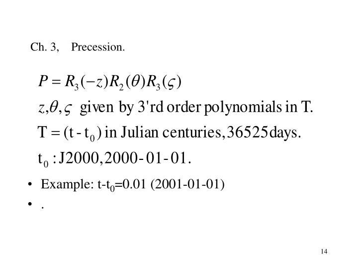 Ch. 3,    Precession.
