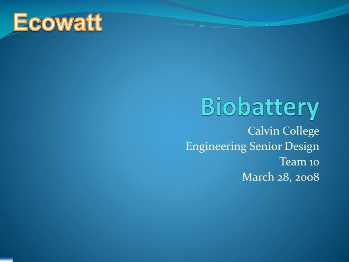biobattery n.
