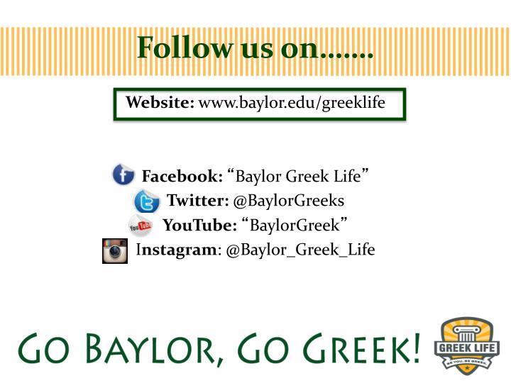 Follow us on…….