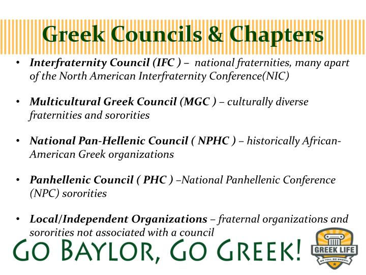 Greek councils chapters