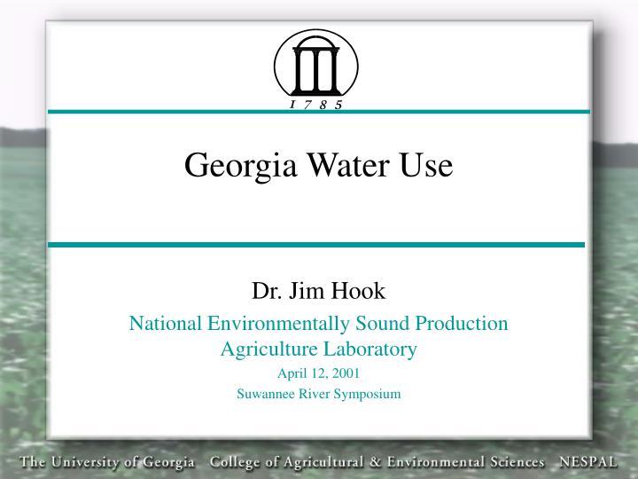 Georgia water use