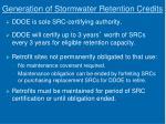 generation of stormwater retention credits