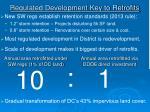 regulated development key to retrofits