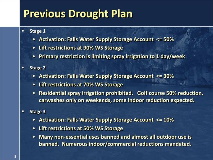 Previous drought plan