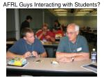 afrl guys interacting with students