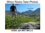 when rocks take photos