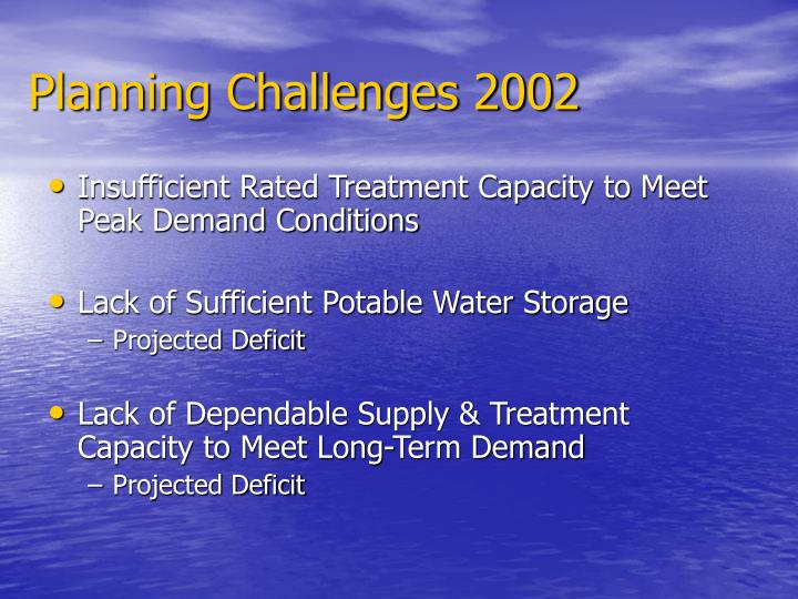 Planning Challenges 2002