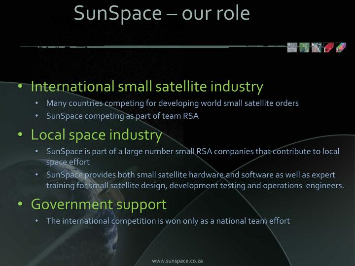 SunSpace – our role
