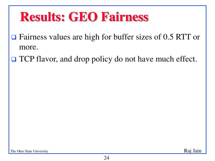 Results: GEO Fairness