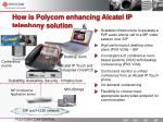 how is polycom enhancing alcatel ip telephony solution