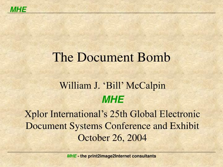 the document bomb n.