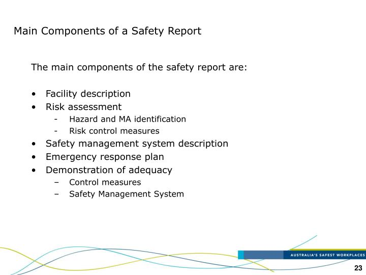 Main Components of a Safety Report