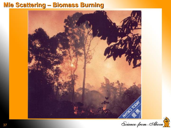 Mie Scattering – Biomass Burning
