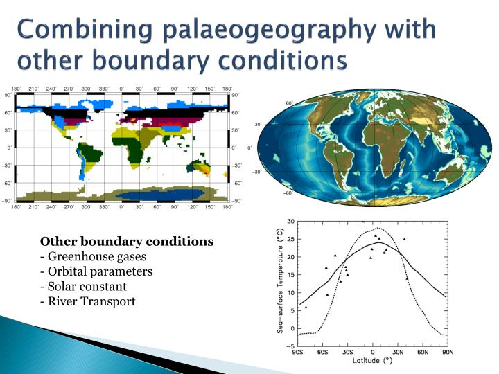 Combining palaeogeography with other boundary conditions