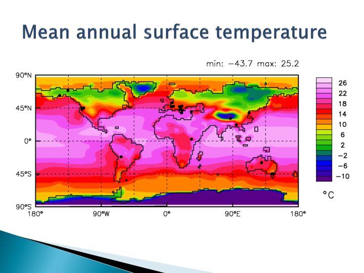 Mean annual surface temperature