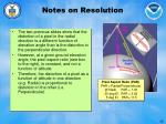 notes on resolution
