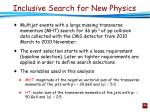 inclusive search for new physics