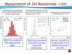 measurement of jet resolutions jet