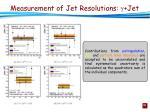 measurement of jet resolutions jet1