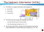 the hadronic calorimeter hcal