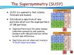 the supersymmetry susy