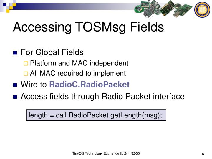 Accessing TOSMsg Fields