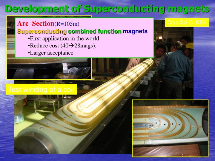 Development of Superconducting magnets