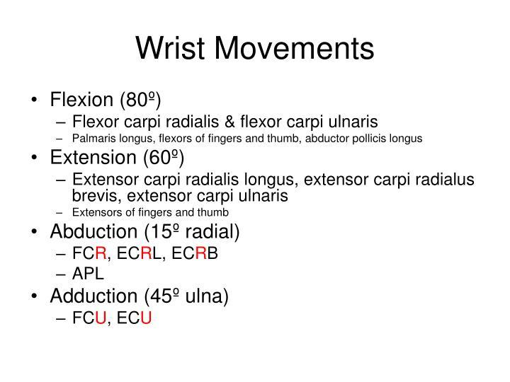 Wrist Movements