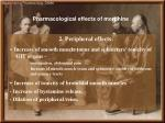 pharmacological effects of morphine1