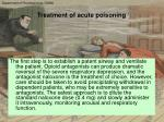 treatment of acute poisoning