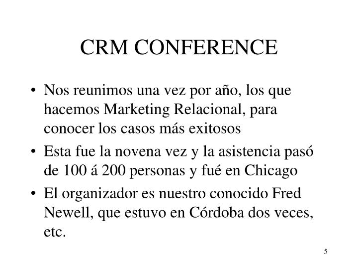 CRM CONFERENCE