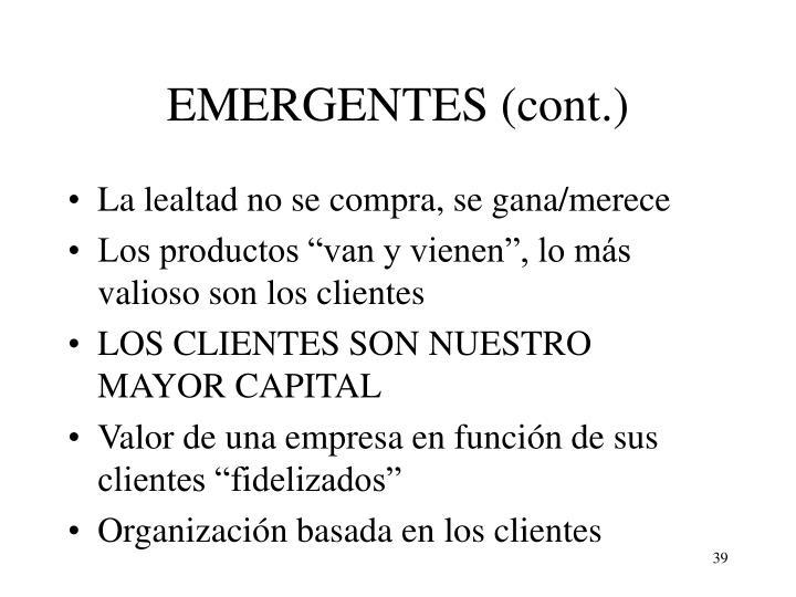 EMERGENTES (cont.)