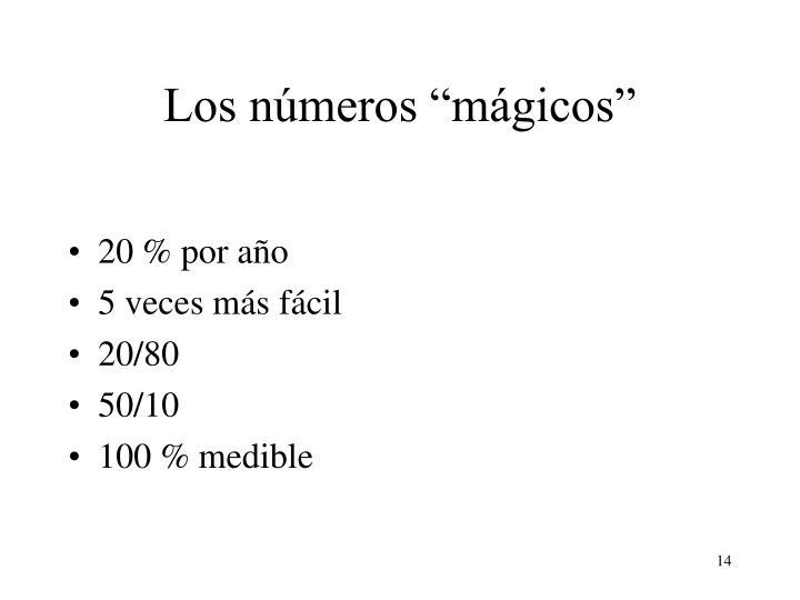 """Los números """"mágicos"""""""