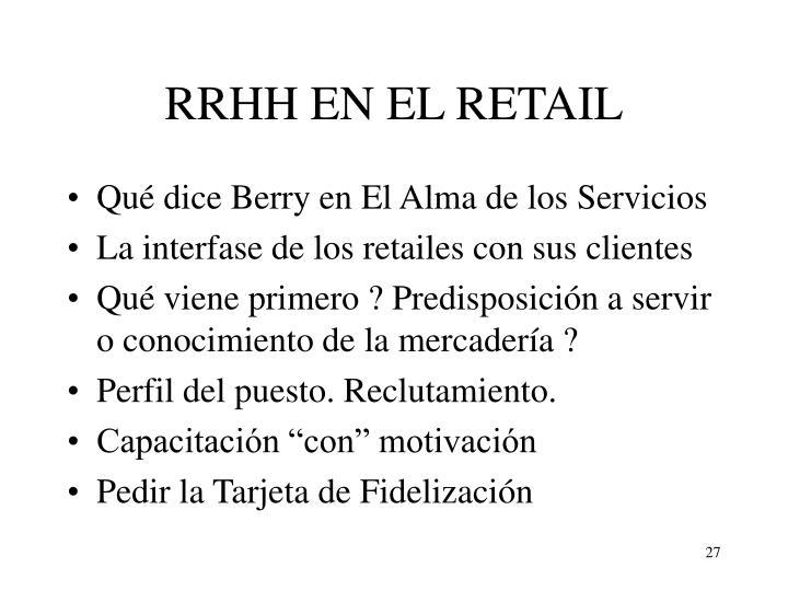 RRHH EN EL RETAIL