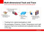 multi dimensional track and trace end to end monitoring and audit trail for perishable goods