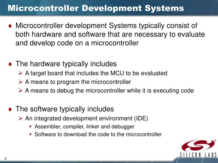 Microcontroller development systems
