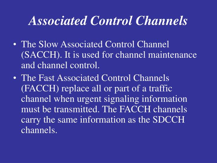 Associated Control Channels