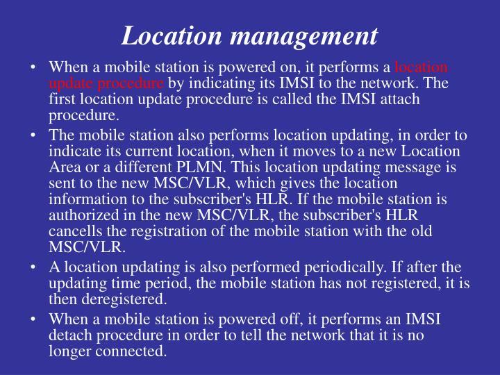 Location management